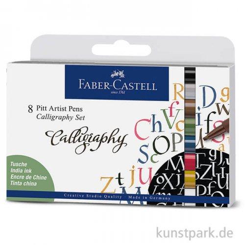 Faber-Castell PITT Artist Pen Calligraphy - 8er Set