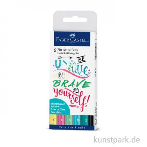 Faber-Castell PITT Artist Pen Handlettering 6er Set - Pastelltöne