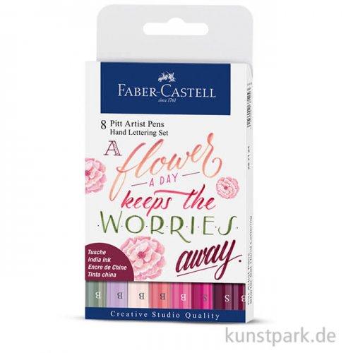 Faber-Castell PITT Artist Pen Handlettering - 8er Set Flowers
