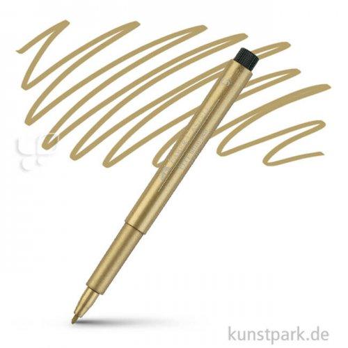 Faber-Castell PITT Artist Pen Metallic einzeln Stift | 250 Gold