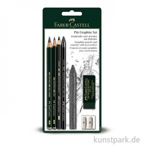 Faber-Castell PITT Graphite Set, mit 5 Stiften und Zubehör
