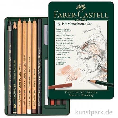 Faber-Castell PITT Monochrome Set klein - 12teilig