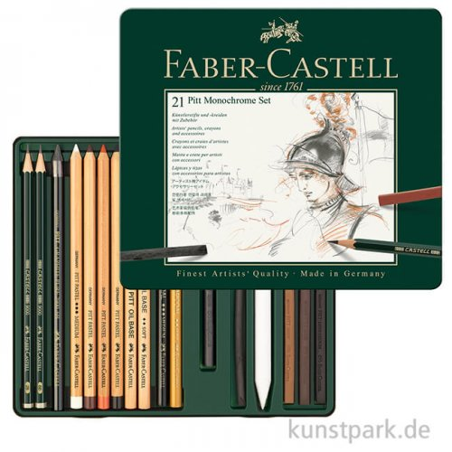 Faber-Castell PITT Monochrome Set medium - 21teilig