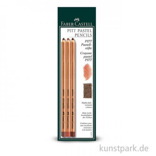 Faber-Castell PITT Pastell 3er Set - braun