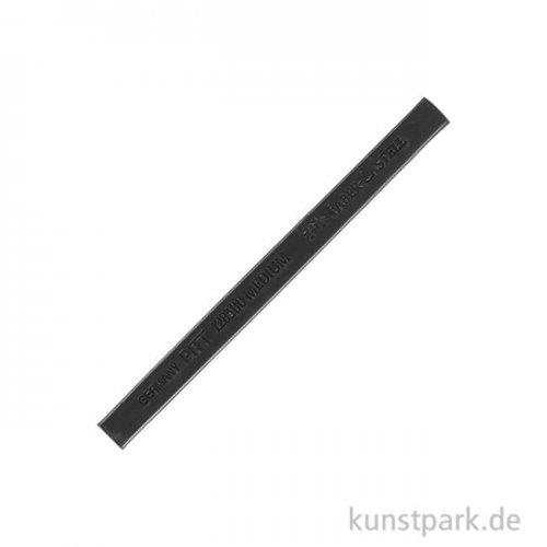 Faber-Castell PITT Zeichenkreide vierkant - Schwarz medium gebrannt