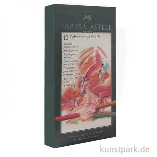 Faber-Castell POLYCHROMOS Kreide, 12 Kreiden im Kartonetui