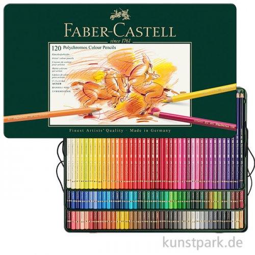 Faber-Castell POLYCHROMOS, 120 Stifte im Metalletui