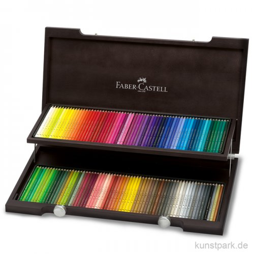 Faber-Castell POLYCHROMOS, 120 Stifte im Holzkoffer