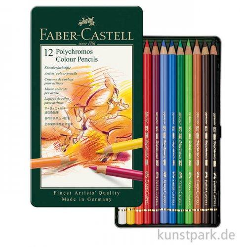 Faber-Castell POLYCHROMOS, 12 Stifte im Metalletui