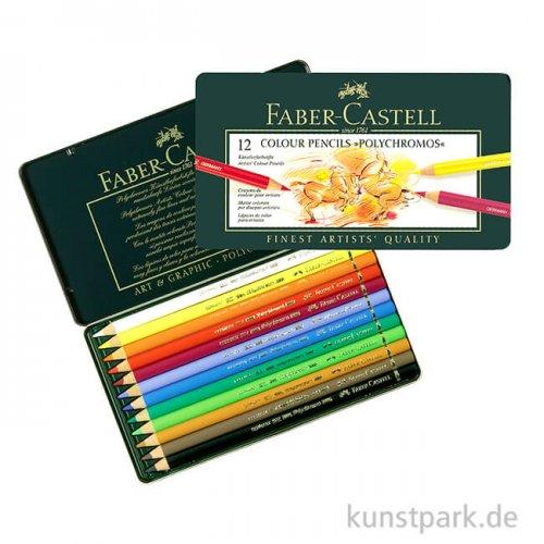 Faber-Castell Polychromos - 12er Set im Blechetui