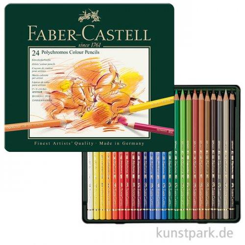 Faber-Castell POLYCHROMOS, 24 Stifte im Metalletui