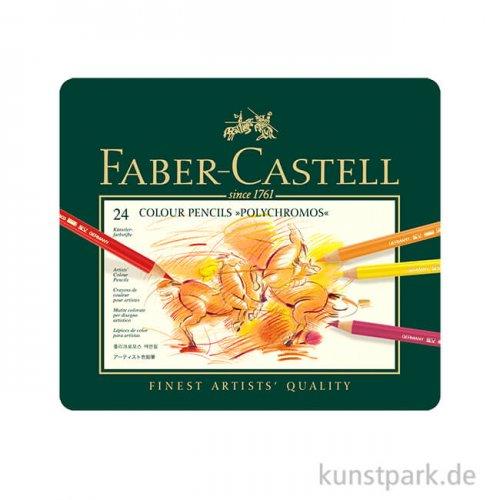 Faber-Castell Polychromos - 24er Set im Blechetui