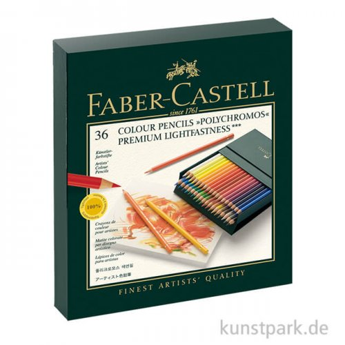 Faber-Castell POLYCHROMOS, 36 Stifte in Atelierbox