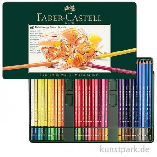 Faber-Castell POLYCHROMOS, 60 Stifte im Metalletui