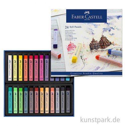 Faber-Castell Softpastellkreiden - 24er Studio-Set