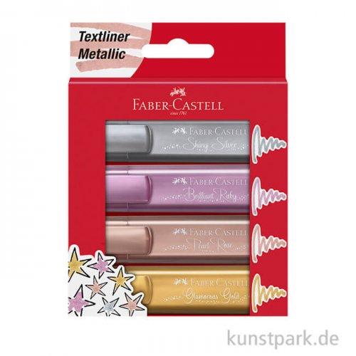 Faber-Castell Textliner - Metallic 4er Set