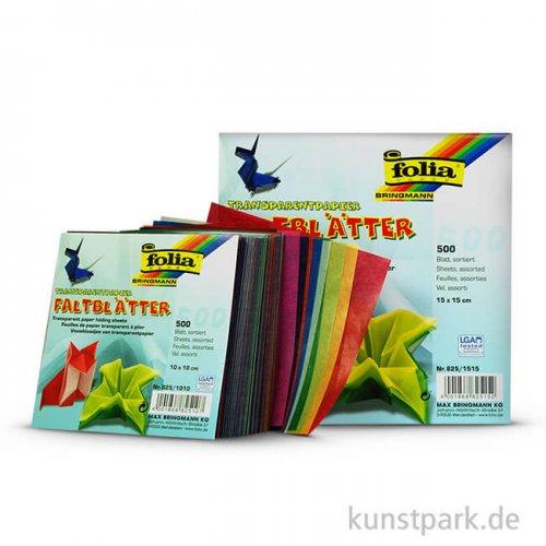 Faltblätter aus Transparentpapier, 500 Blatt, 42g - farbig sortiert