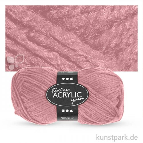 Fantasia Wolle aus 100 % Polyacryl - 50 g 80 m | Hellrot