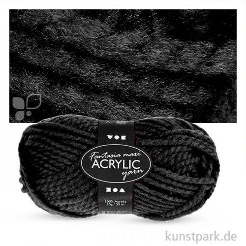 Fantasia Acryl Wolle Maxi 100 % Acryl - 50 g 35 m | Schwarz
