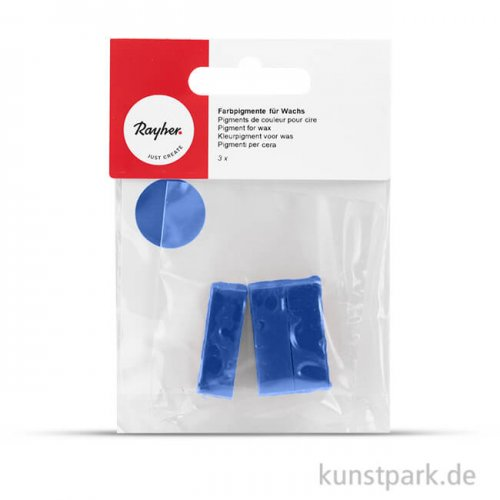 Farbpigmente für Wachs, 3 Stück Beutel | Dunkelblau