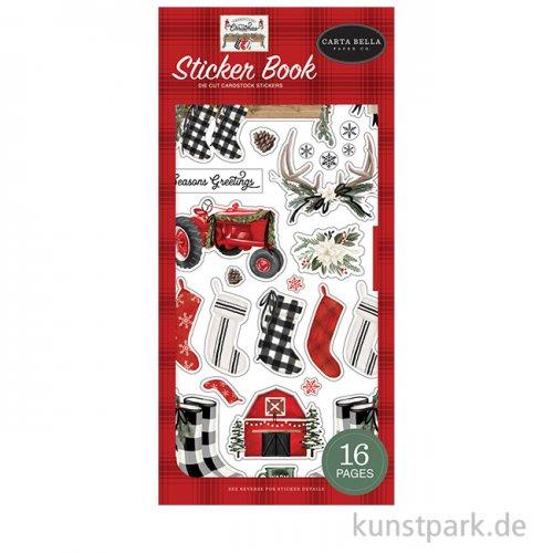 Farmhouse Christmas - Sticker Book 11,5 x 24 cm, 16 Blätter