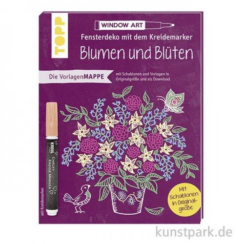 Fensterdeko mit dem Kreidemarker - Blumen und Blüten., Topp Verlag