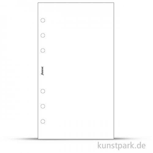 FILOFAX Einlagen - Blanko Weiß, 30 Stück, 70g Personal