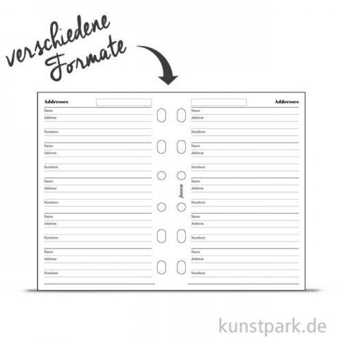 FILOFAX Kalendereinlagen Name - Telefon