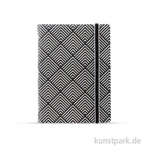FILOFAX Notebook Impressions - Black & Whitedeco POCKET