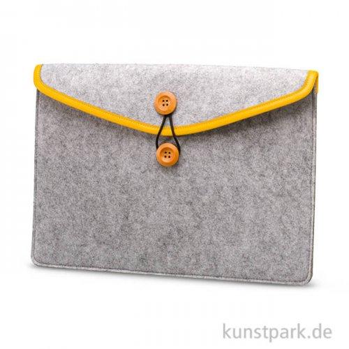 Filztasche mit Elastikbandverschluss 25x35 cm