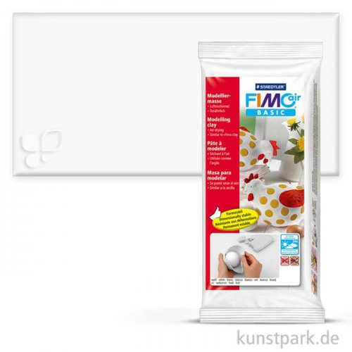 FIMO air basic, lufttrocknende Modelliermasse 1kg | Weiß