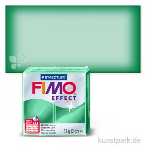FIMO Transluzentfarben Effekt 57 g Einzelfarbe | Grün transparent