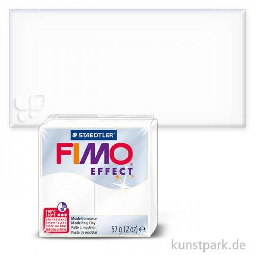 FIMO Transluzentfarben Effekt 57 g | Weiß transparent