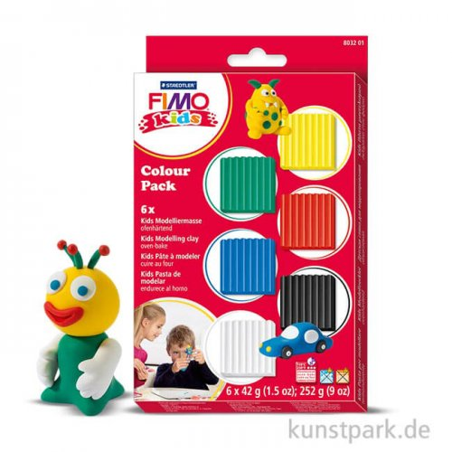 FIMO Kids Colour Pack - Basic, 6x42 g