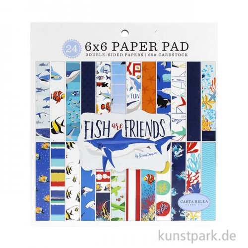 Fish Are Friends Collection - Paper Pad 15,3 x 15,3 cm, 24 Blatt