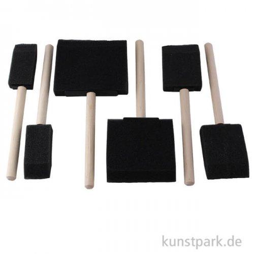 Flächenpinsel aus Spezial-Schaumstoff, 6 Stück im Set