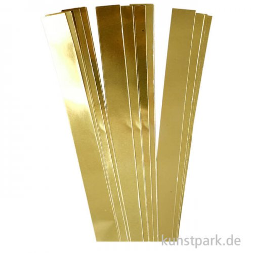 Flechtstreifen für Fröbelsterne - Gold 25 mm - 100 Stück
