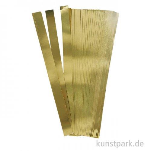 Flechtstreifen für Fröbelsterne - Gold