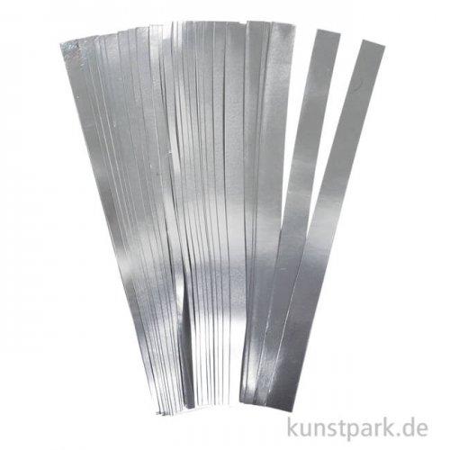Flechtstreifen - silber 10 mm - 100 Stück