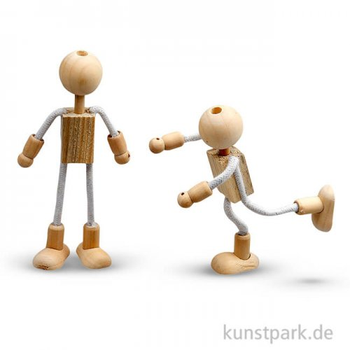 Flexi-Figuren aus Holz, 12 cm, 4 Sets