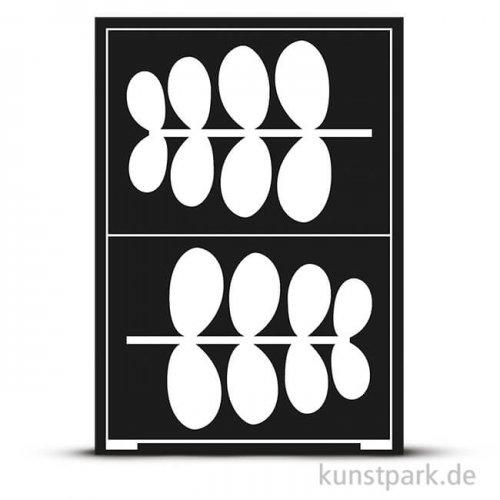 Flexible Designschablone A5 - Blatt - selbstklebend