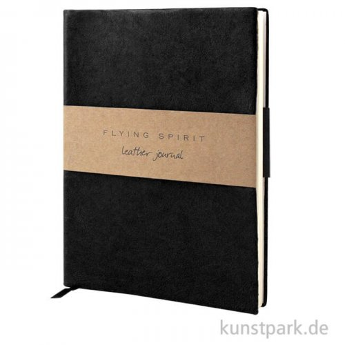 Clairefontaine - Flying Spirit Journal aus Echtleder - Schwarz