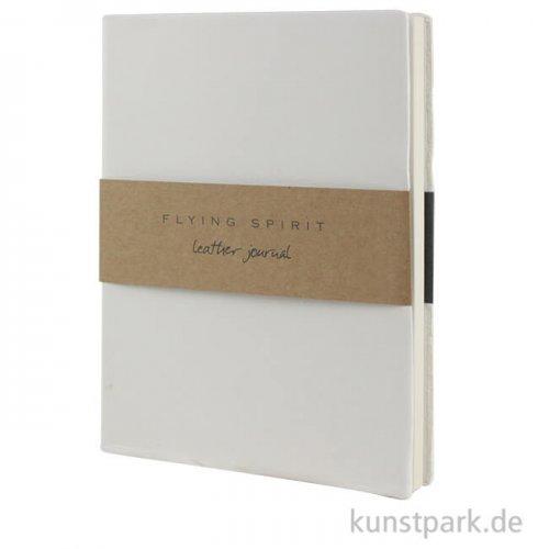 Clairefontaine - Flying Spirit Journal aus Echtleder - Weiß