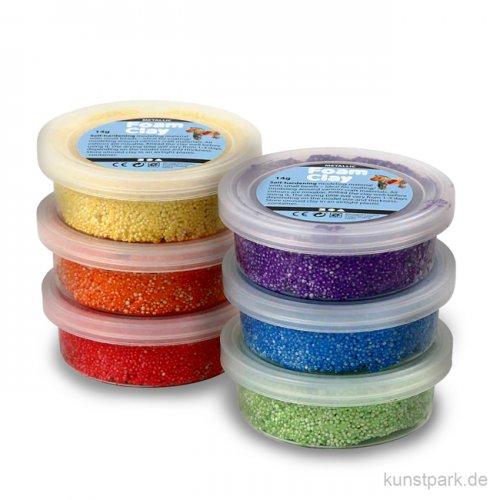 Foam Clay - Metallic Sortiment 2, 6x14 g