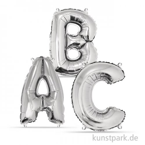 Folienballon Buchstabe - Silber, 40 cm