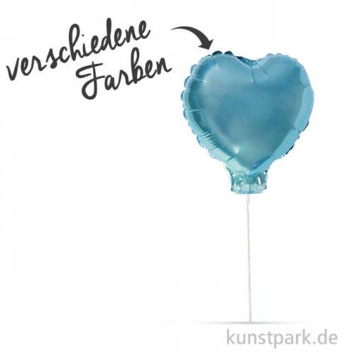 Folienballon Herz zum Stecken, 28 cm