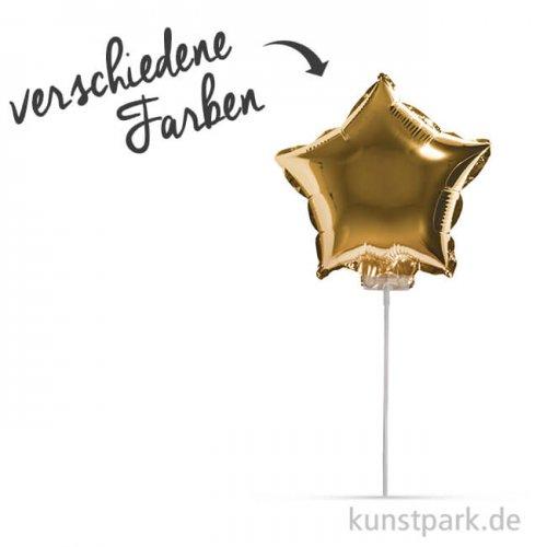 Folienballon Stern zum Stecken, 28 cm