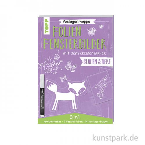 Folienfensterbilder mit Kreidemarker - Blumen und Tiere, Topp Verlag