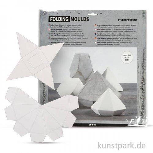 Form-Matten geometrische Figuren, 6-13 cm, 5 Stück