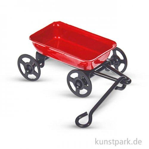 Mini Gartenwagen aus Metall, 27x80 mm